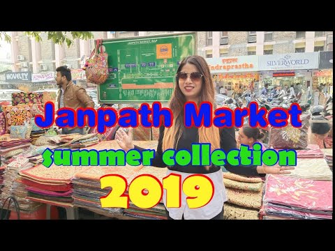 Janpath Market Summer Collection 2019    janpath market, connaught place Delhi    a shopping day   
