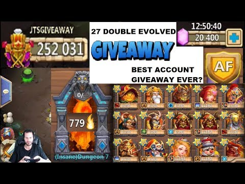 $10000 Castle Clash ACCOUNT GIVEAWAY 27 DEVOs 252k MIGHT GOODLUCK