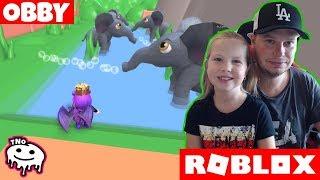 Wir LAUFEN VON der ZOO-Flucht aus dem Zoo Obby! | Daddy und Barunka Roblox