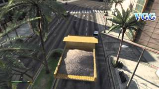 Big Huge Dump Truck Tonka Truck GTA V 5 Gameplay and Location