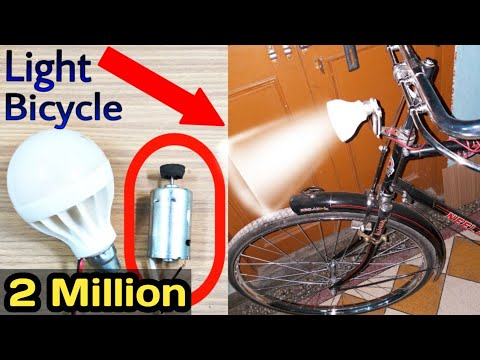 How To Make Head Light 💥🚴 Bicycle Easy, Cycle Headlight, Bicycle, Dynamic Head Light, Rider