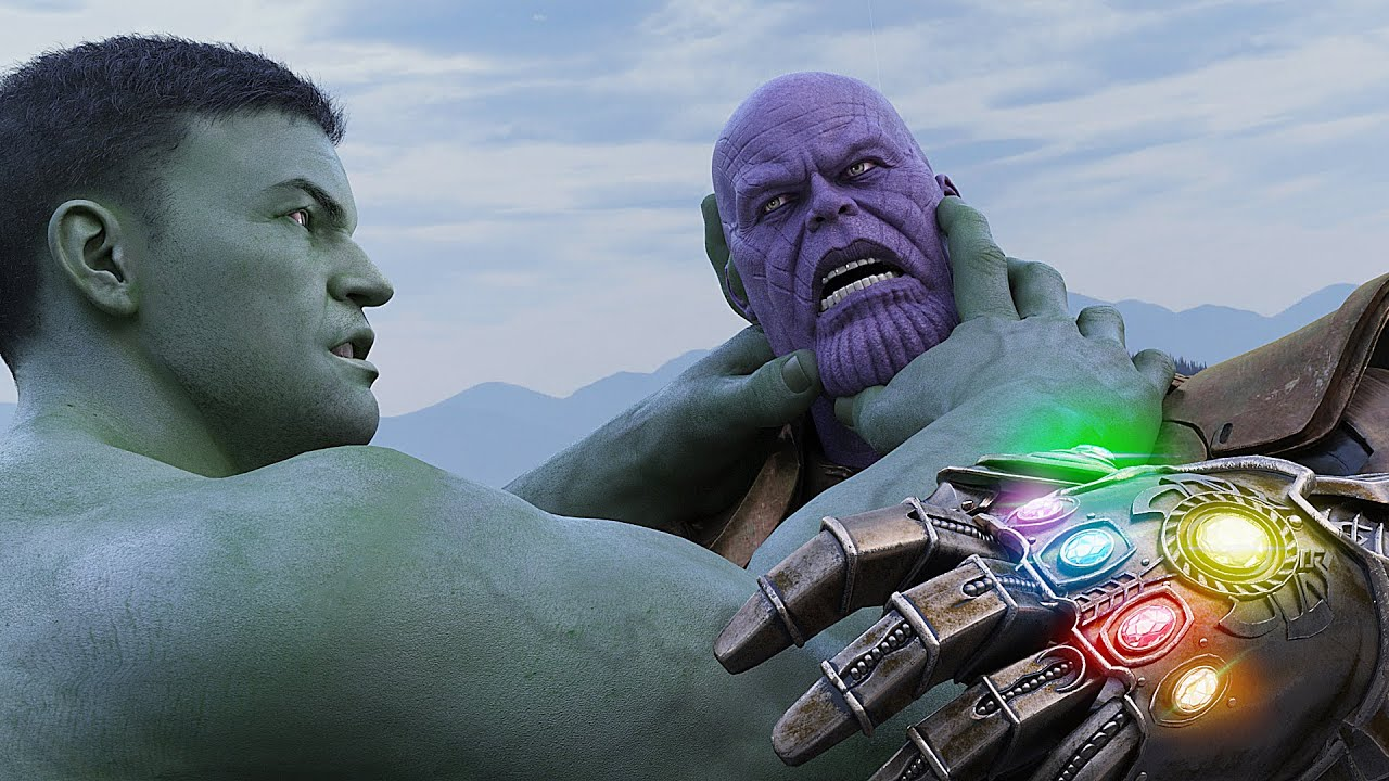 THANOS vs HULK FIGHT AVENGERS INFINITY WAR SPIDER-MAN IRON MAN & BLACK PANTHER