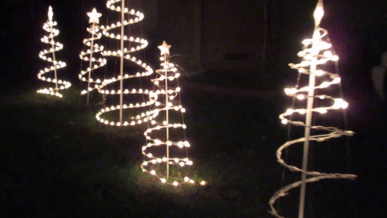 Merry Christmas And Happy New Year Holiday Greetings Lighted Tree