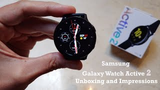 Samsung Galaxy Watch Active 2 Unboxing and Impressions
