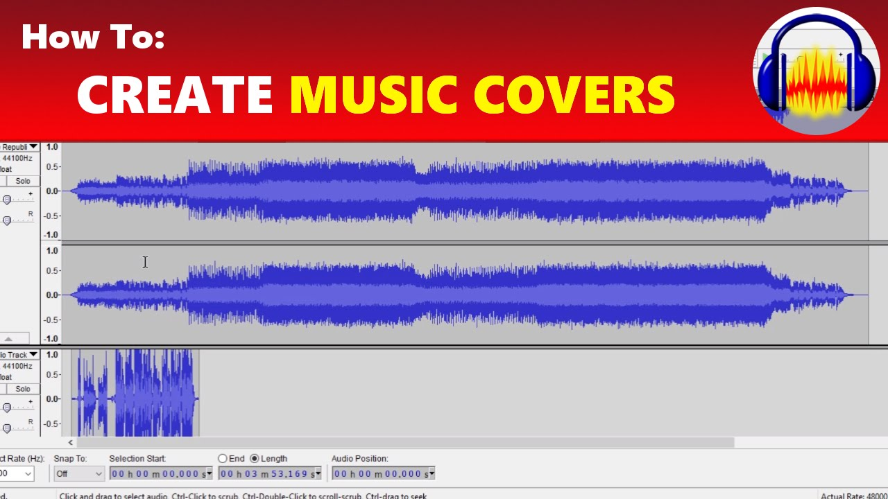 how to create record your own music song covers in audacity youtube. Black Bedroom Furniture Sets. Home Design Ideas