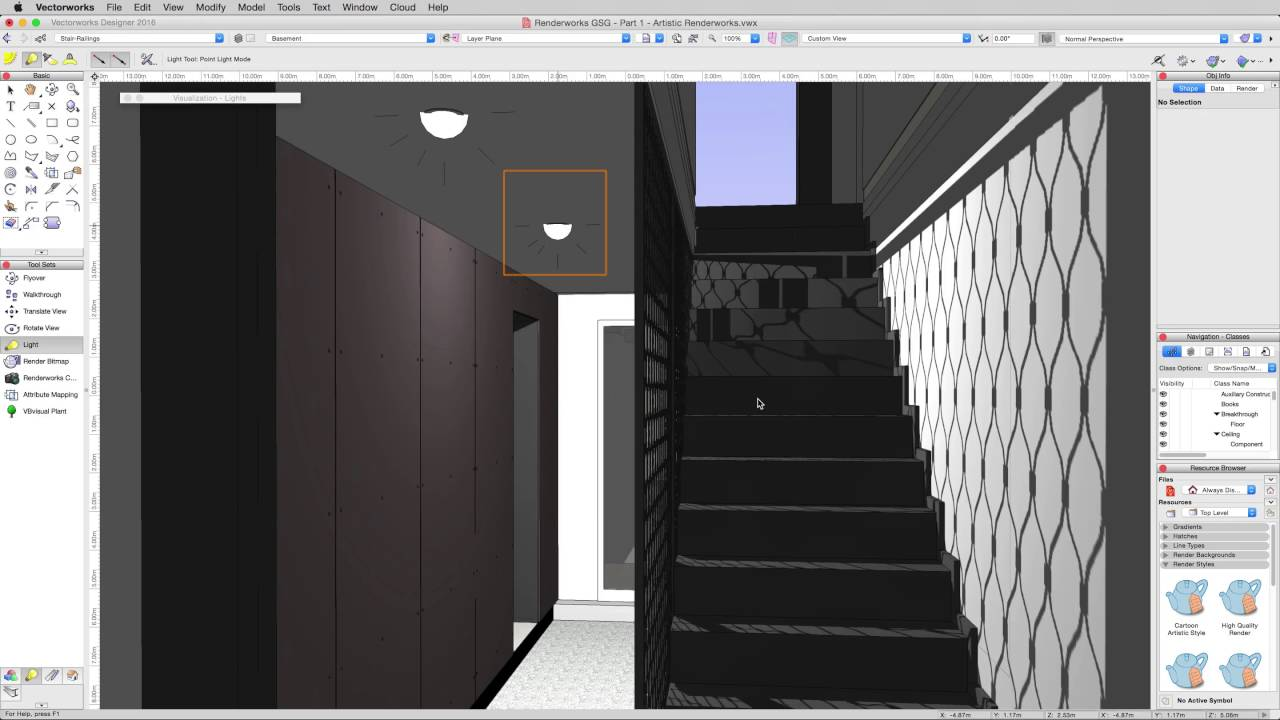 Rendering in vectorworks lights youtube