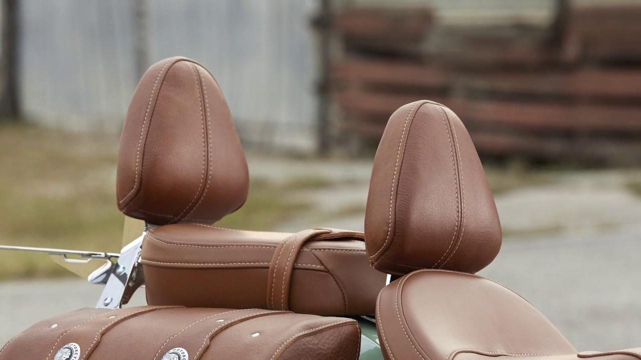 Kuryakyn Chrome Plug-N-Go Driver Backrest With Tan Pad 1629