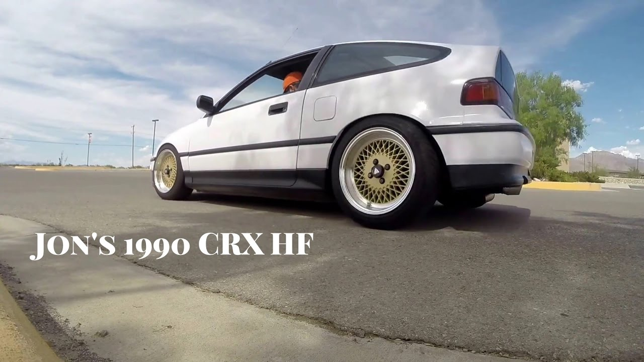 Honda Civic Hf >> My old Honda CRX HF - 1991 D15B6 on Enkei 92 wheels - YouTube