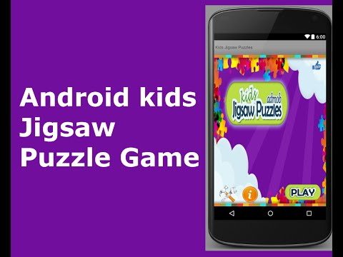 Android Kids Jigsaw Puzzle App