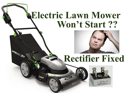 DIY: How to Repair an Electric Lawn Mower that Doesn't Start & Trips Breaker. RECTIFIER Issue Fixed