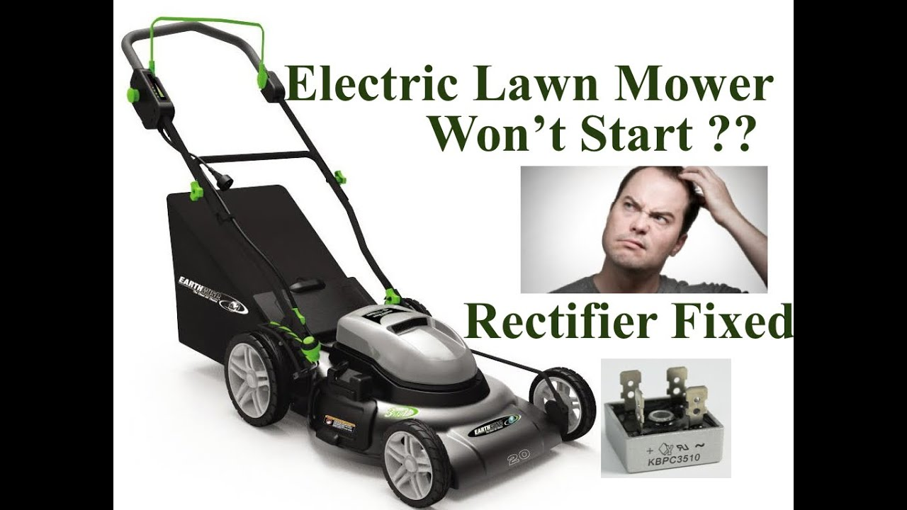 DIY: Here's How to Repair an Electric Lawn Mower that Doesn't Start Trips  Breaker  RECTIFIER Fixed
