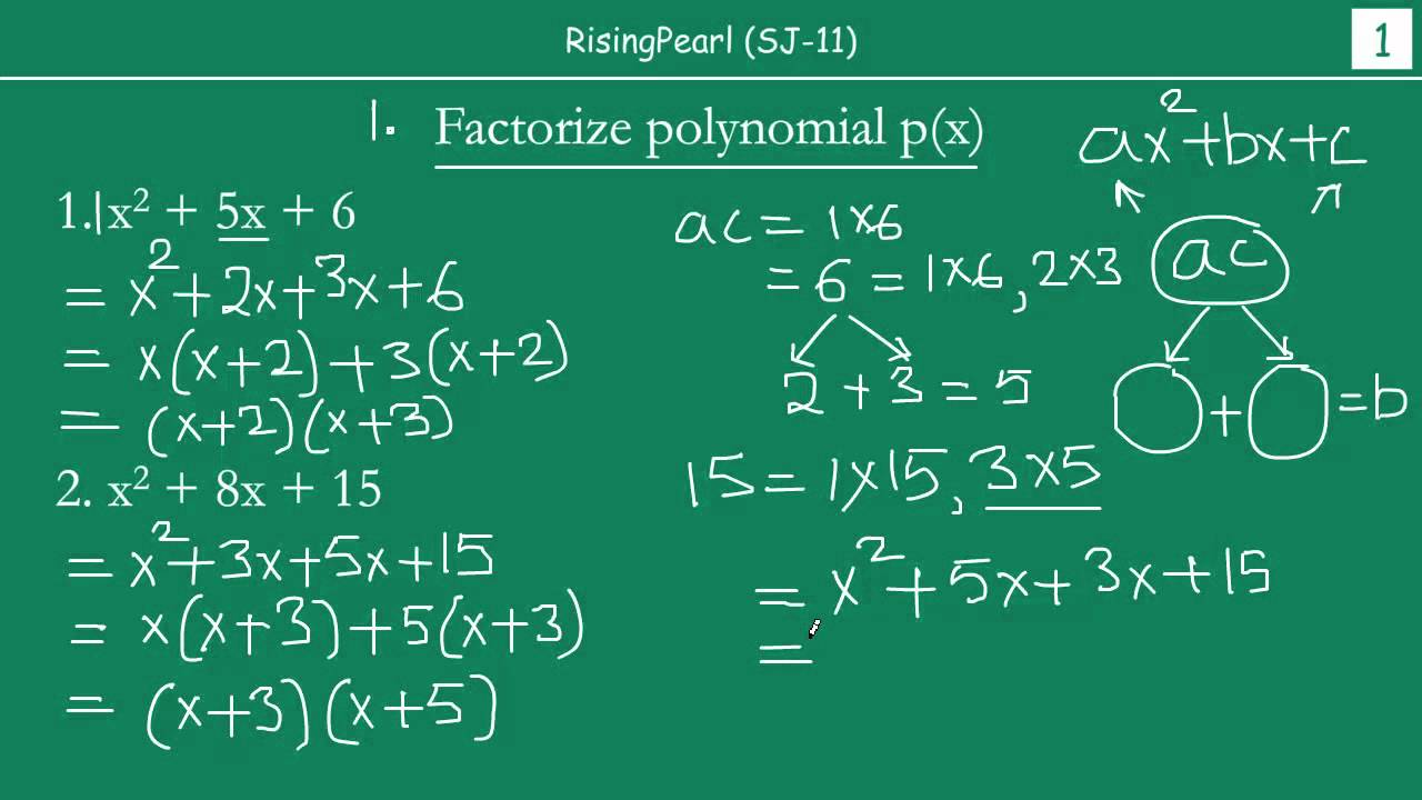 Solving Problems On Middleterm Factorization (1 Of 2)