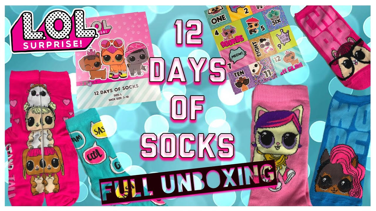 c42331a80a5 LOL Surprise 12 Days of Socks Advent Calendar Full Unboxing - YouTube