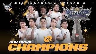 RRQ HOSHI THE MYTH BREAKER | CHAMPION OF MPL INDONESIA SEASON 6