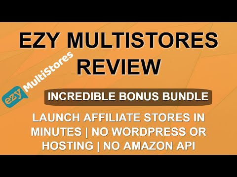 Ezy MultiStores Review | Live Demo Fail | Make Affiliate Stores without WordPress/Hosting/Coding thumbnail
