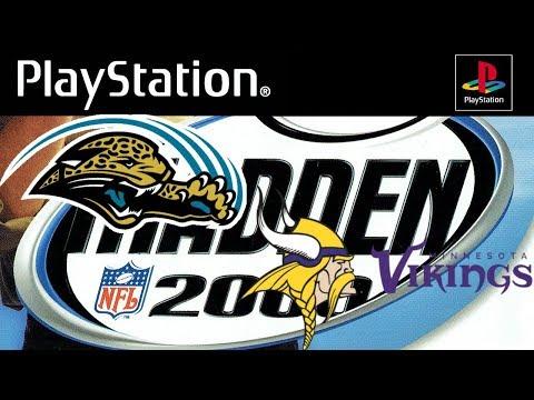 Madden NFL 2000 PlayStation - Minnesota Vikings @ Jacksonville Jaguars