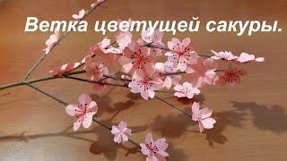 Веточка сакуры. Цветки - оригами.