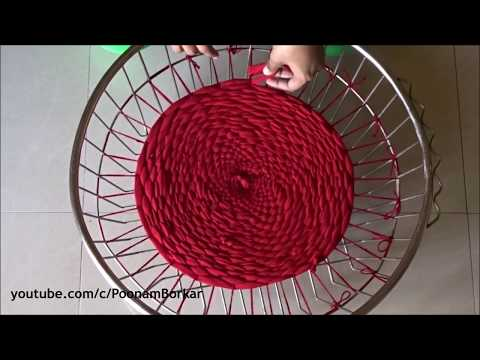 DIY - Door Mat or table mat from old clothes   Recycling old leggings   Step by step tutorial