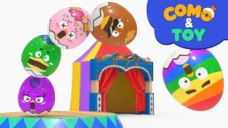 Como and Toys | Egg Tower 2 | Learn colors and words | Cartoon video for kids | Como Kids TV