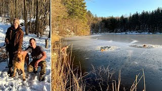 Man Jumps Shirtless Into Frozen New York Lake To Rescue Stranded Dogs