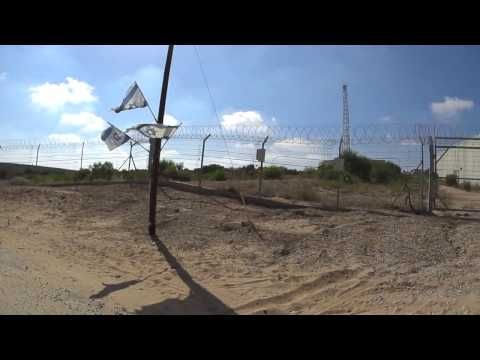 The wall between Israel and the Gaza Strip (filmed from the Israeli side)