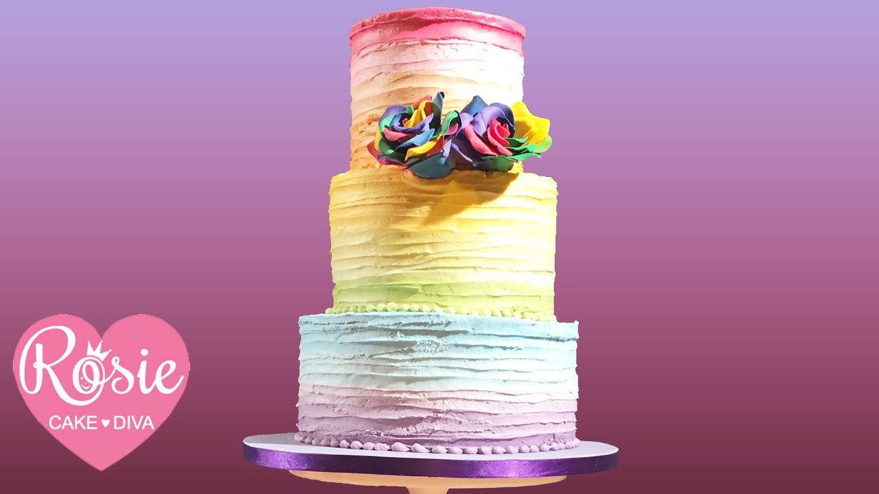 Rainbow Buttercream Cake