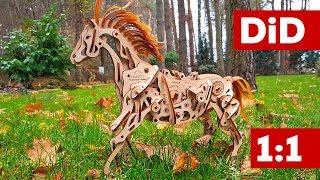 783b. Mały majsterkowicz: Ugears Koń-mechanoid. Montaż 1:1