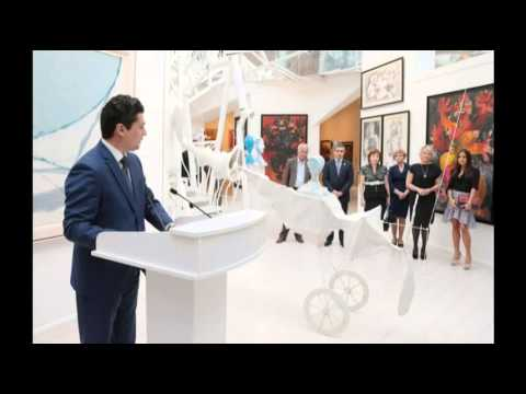 Leyla Aliyeva attends of young Russian painters' exhibition in Modern Art center