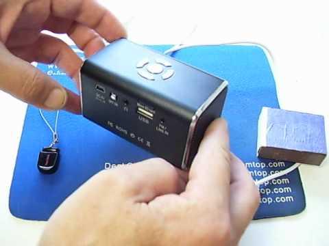 Stereo Speaker w/ FM Radio + Alarm Clock + Lyric Display + USB / TF Card Slot