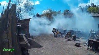 Пожежна мотопомпа МП 800 Б Димова завіса