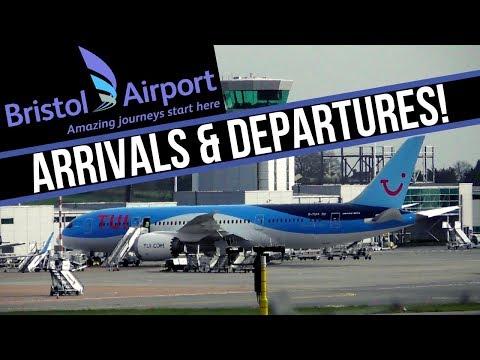 BRISTOL AIRPORT   ARRIVALS & DEPARTURES!