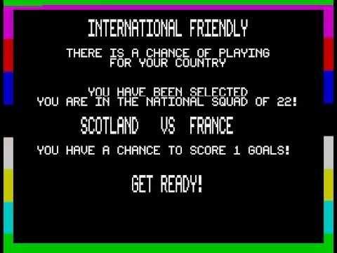 Footballer of the Year Walkthrough, ZX Spectrum