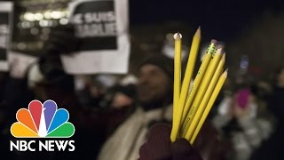 Charlie Hebdo Attack Draws Brilliant Responses From Cartoonists | NBC Nightly News
