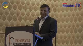 Mr. Mahendra Bhai Patel at IndiaPlast 2019 Ahmadabad Roadshow addressing the guest