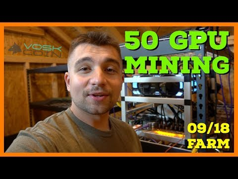 50 GPU Mining Farm Earns Less Than $10 A Day - VoskCoin Mining Farm Profitability Update
