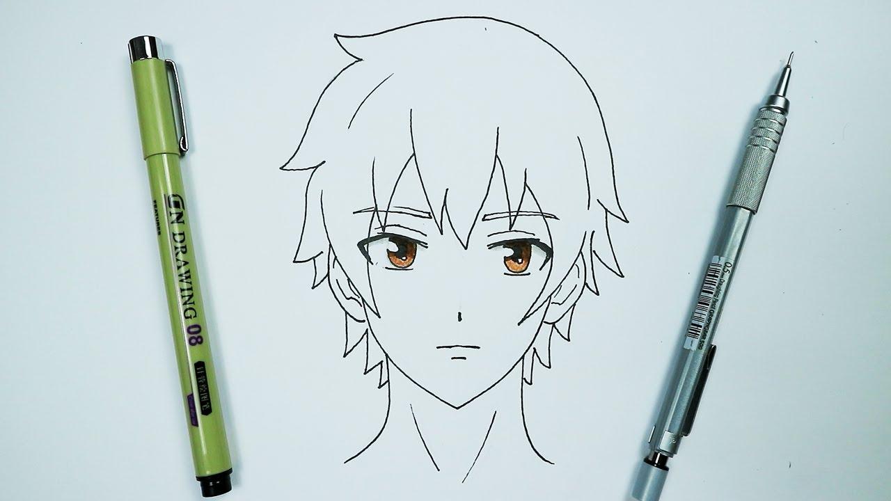 تعلم رسم ولد انمي سهل خطوة بخطوة تعليم كيفية رسم انمي بطريقة