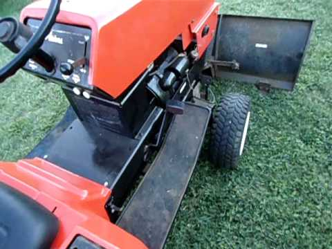 Ariens s16h garden tractor cold start YouTube