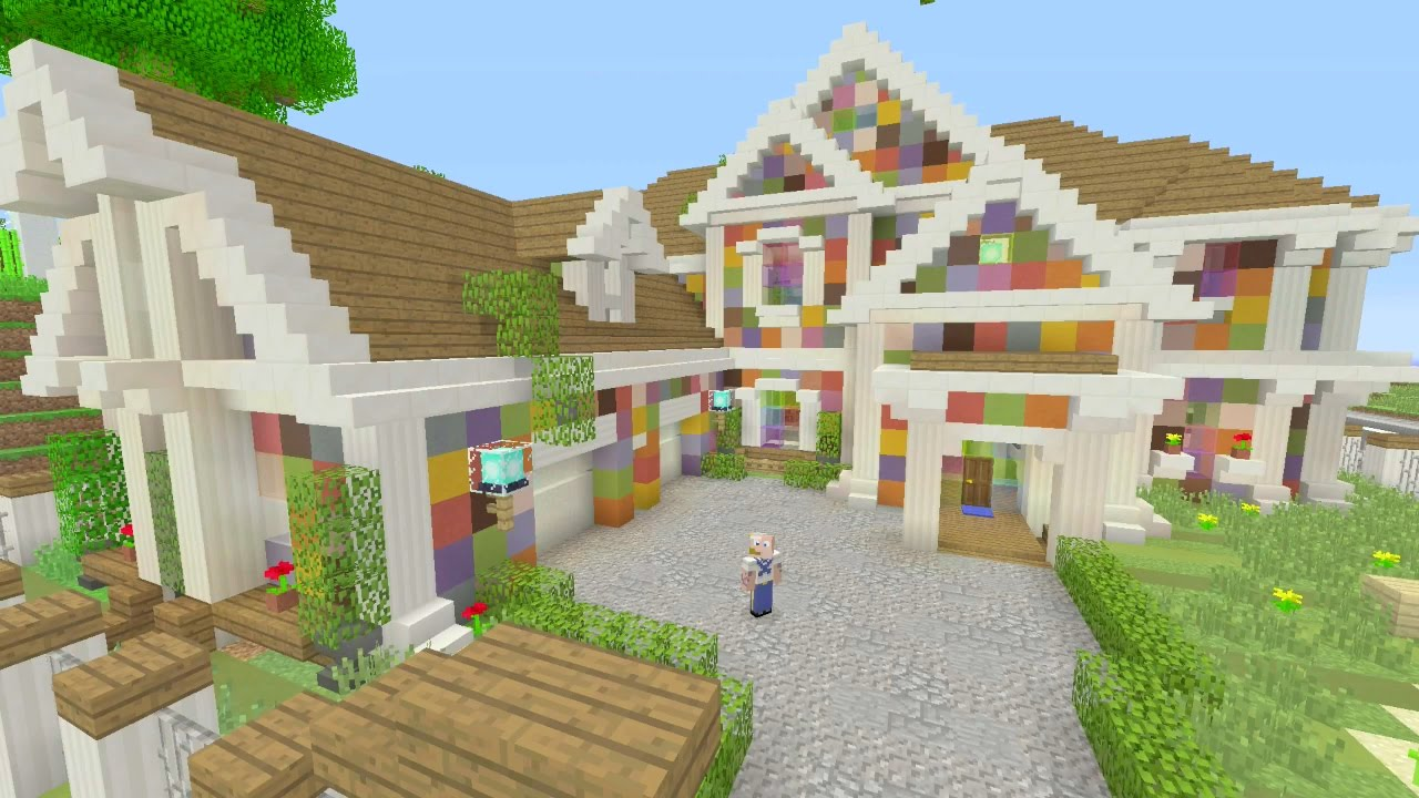 Colorful House minecraft's most colorful house! - youtube