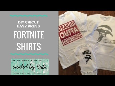 DIY FortNite Shirts | Cricut Easy Press