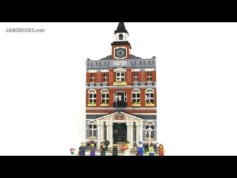 LEGO Town Hall 10224 modular building Review!