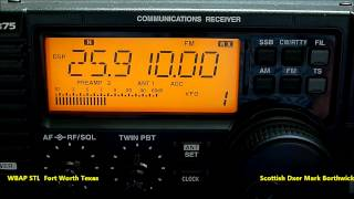 WBAP Fort Worth Texas NFM Studio Link 25.910Mhz Received In Scotland on Icom R75