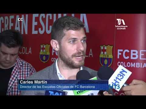 Lanzamiento en Medellín de la escuela FC Barcelona