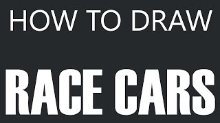 How To Draw A Race Car - Stock Race Car Drawing (Coupe Body Style)