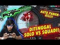 DITINGGAL SOLO VS SQUAD PAKE AWM!! AUTO BOOYAH!! FREE FIRE INDONESIA