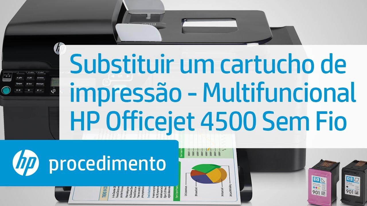 substituir um cartucho de impress o multifuncional hp officejet rh youtube com HP Officejet 4500 User Manual HP Officejet 4500 Owner's Manual