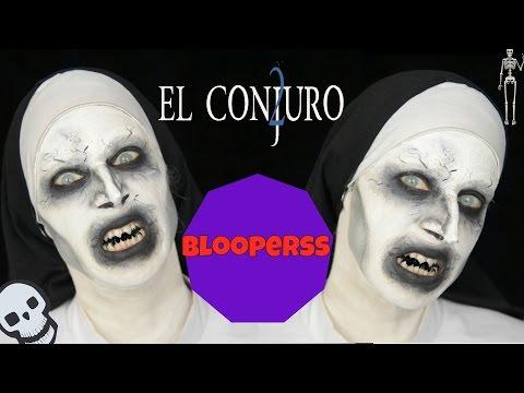 El Conjuro 2 Valak tutorial + bloopers - The Conjuring 2 , Valak makeup Tutorial