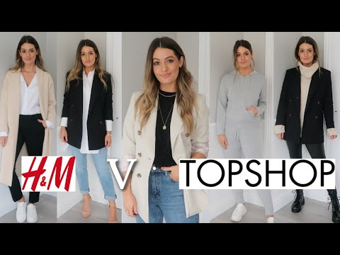 NEW IN H&M VS TOPSHOP TRY ON HAUL | WINTER SPRING 2020