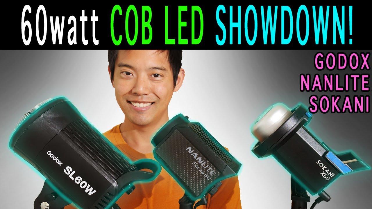 Godox SL60w vs Sokani X60 v2 vs Nanlite Forza 60   60w Cob Led Comparison