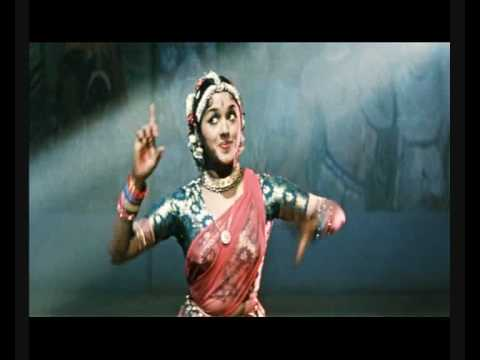 PADMINI in Soviet film 1958 Temple scene