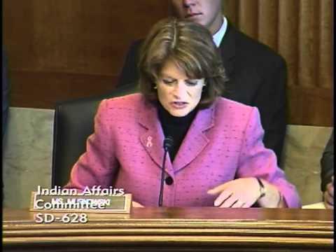 Sen. Murkowski at Senate Indian Affairs Committee Hearing: On Internet Infrastructure